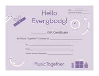 Hello Everybody Certificate (purple)