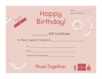 Happy BIrthday Certificate (red)